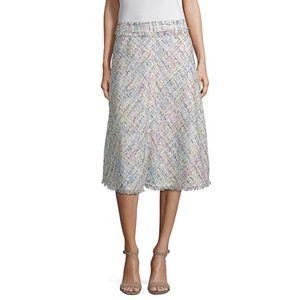 Worthington Boucle Tweed Midi A-Line Skirt